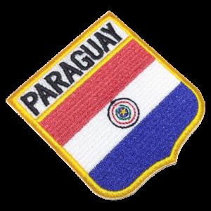 Bandeira Paraguay patch bordado BEIN020