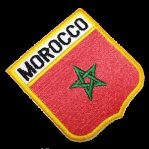 Bandeira Marrocos patch bordado BEIN022