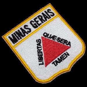 Bandeira Minas Gerais BEBR015 Patch Bordado para Roupa Farda