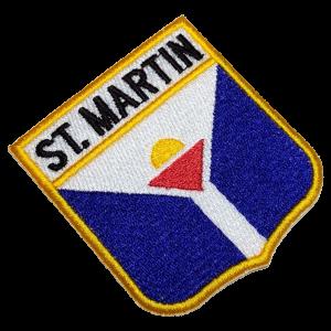 Bandeira St. Martin BEIN058 Patch Bordado para Farda Jaqueta