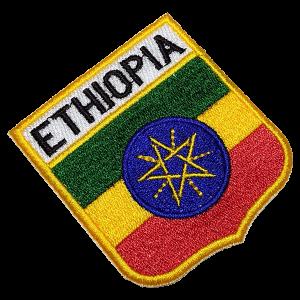 Bandeira Ethiopia BEIN053 Patch Bordado para Uniforme Camisa