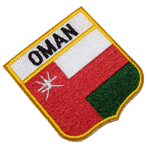 Bandeira Oman BEIN054 Patch Bordado para Uniforme Camisa