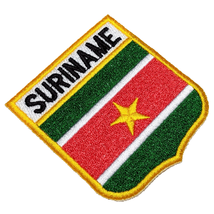 Bandeira Suriname BEIN061 Patch Bordado para Uniforme Camisa