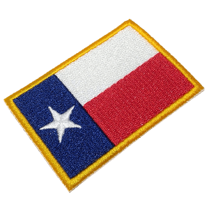 Bandeira Texas EUA BIN042 Patch Bordado para Uniforme Camisa
