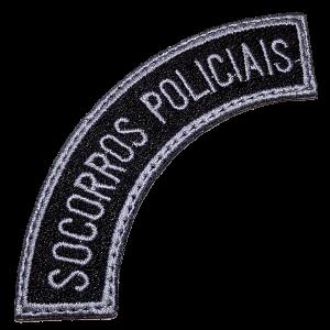 Socorros Policiais EML119V Patch Bordado para Uniforme