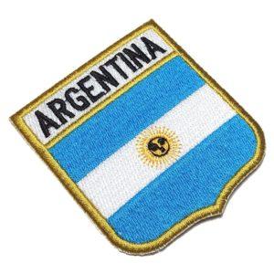 Bandeira Argentina BEIN010 Patch Bordado para Uniforme Camisa