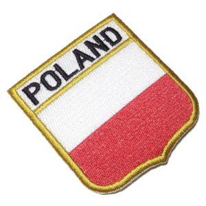 Bandeira Polônia BEIN018 Patch Bordado para Uniforme Camisa