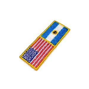 Bandeira EUA Argentina BIN231 Patch Bordado Para Camisa