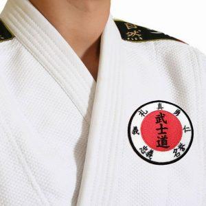 Kanjis Codigo Karate Bushido Patch Bordado Para Kimono Roupa