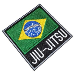 Bandeira Brasil Jiu-Jitsu Patch Bordado Para Kimono Mochila