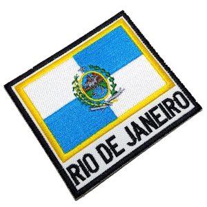 Bandeira Rio de Janeiro BBR330 Patch Bordado para Uniforme