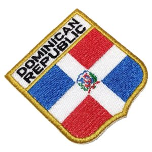 Bandeira República Dominicana Patch Bordado Uniforme Camisa