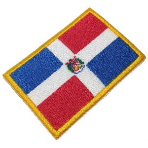 Bandeira República Dominicana BIN145T Patch Bordado Uniforme