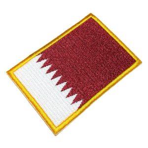 Bandeira Qatar Patch Bordado Para Uniforme Camisa Mochila