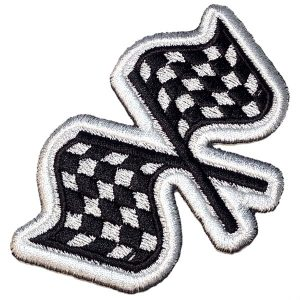 Bandeiras de Corrida Patch Bordado para Macacão Kart Carro