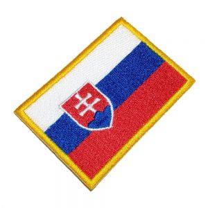 Bandeira Slovakia Patch Bordado Para Uniforme Camisa Mochila