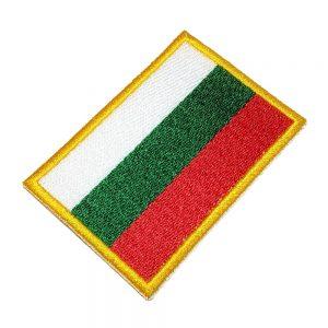 Bandeira Bulgária Patch Bordado Para Uniforme Camisa Mochila