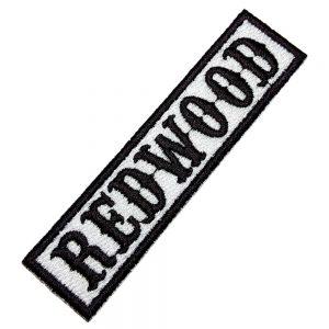 Redwood Patch Bordado Título Para Colete Jaqueta Moto Clube