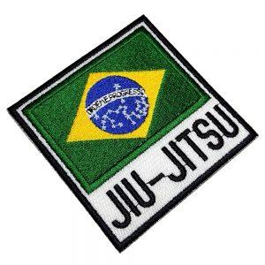 Bandeira Brasil Jiu-Jitsu Patch Bordado Para Kimono Camisa
