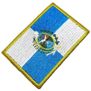 Bandeira Rio de Janeiro Brasil Patch Bordado Para Uniforme