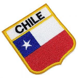 Bandeira Chile Patch Bordado Para Uniforme Camisa Mochila
