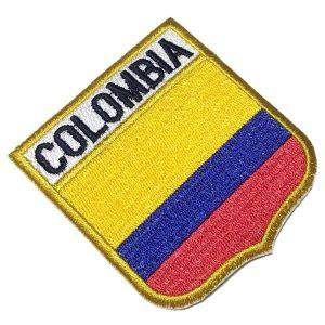 Bandeira Colombia Patch Bordado Para Uniforme Camisa Mochila