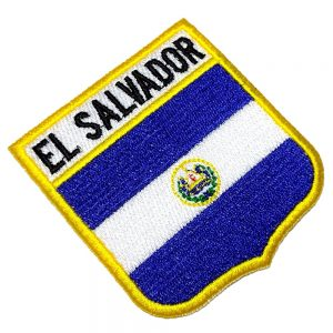 Bandeira El Salvador Patch Bordado Para Uniforme Camisa