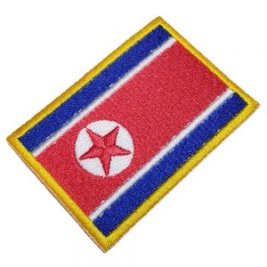 Bandeira Coreia do Norte Patch Bordado Para Uniforme Camisa
