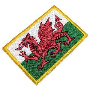 Bandeira País de Gales Patch Bordado Para Uniforme Camisa