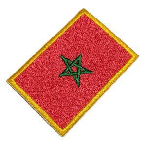 Bandeira Marrocos Patch Bordado Para Uniforme Camisa Jaqueta