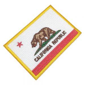 Bandeira República da Califórnia Patch Bordado Para Uniforme