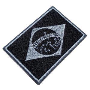 Bandeira Brasil Patch Bordado Para Uniforme Camisa Jaqueta