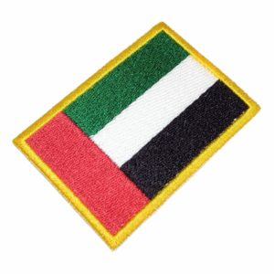 Bandeira Emirados Árabes Unidos Patch Bordado Para Uniforme