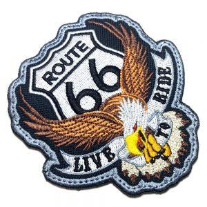 Águia EUA Rota 66 Patch Bordado Para Roupa Colete Moto Clube