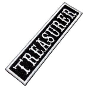 Treasurer Patch Bordado Título Para Colete Moto Clube