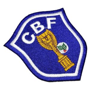 Escudo Futebol Brasil Patch Bordado Para Camisa Jaqueta