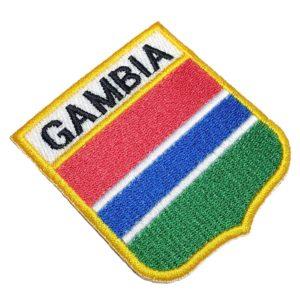 Bandeira Gâmbia Patch Bordado Para Uniforme Camisa Mochila