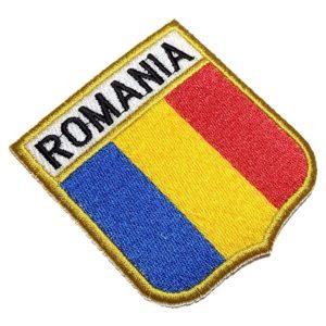 Bandeira Romênia Patch Bordado Para Uniforme Camisa Mochila