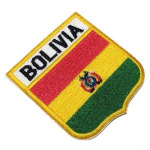 Bandeira Bolívia Patch Bordado Para Uniforme Camisa Kimono