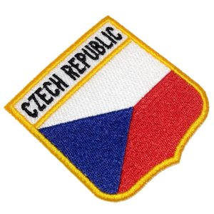 Bandeira República Checa Patch Bordado Para Uniforme Camisa