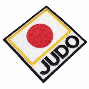 Judô Bandeira Japão Patch Bordado Para Kimono Jaqueta Camisa