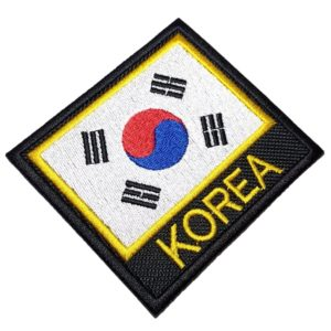 Bandeira Coreia do Sul Patch Bordado Para Uniforme Kimono