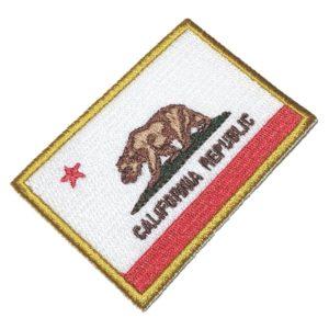 Bandeira Califórnia EUA Patch Bordado Para Uniforme Camisa