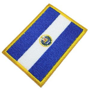 Bandeira El Salvador Patch Bordado Para Uniforme Camisa Mala