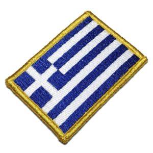 Bandeira Grécia Patch Bordado Para Uniforme Jaqueta Camisa