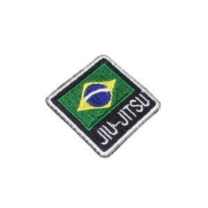 Jiu-Jitsu Bandeira Brasil Patch Bordado Para Faixa Kimono