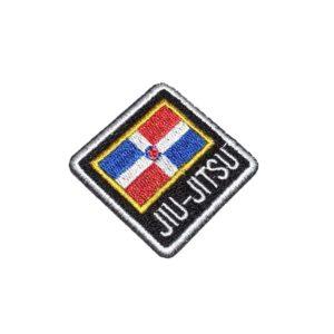 Jiu-Jitsu Bandeira República Dominicana Patch Bordado Kimono