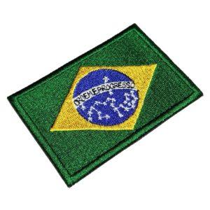 Bandeira Brasil Patch Bordado Para Uniforme Camisa Kimono