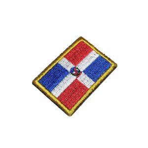 Bandeira República Dominicana Patch Bordado Para Uniforme