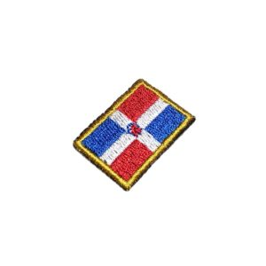 Bandeira República Dominicana Patch Bordado Para Uniforme